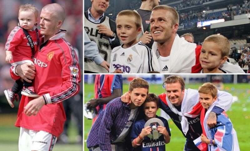 El pequeño que acompañaba a David Beckham en sus mejores logros como futbolista se ha convertido en todo un adolescente.