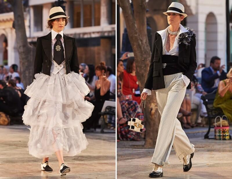 Chanel presentó piezas que mezclan piezas femeninas y masculinas.