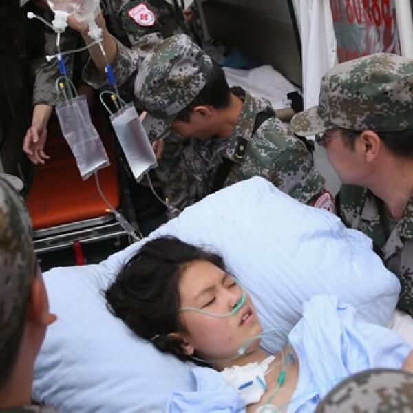 mujer rescatada ambulancia
