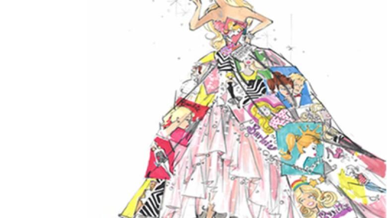 Un vestido así es la conjunción de todo lo relacionado con Barbie y Bvlgari.