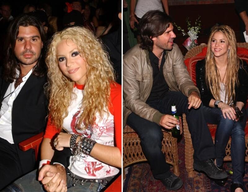 Shakira y Antonio en octubre de 2002.