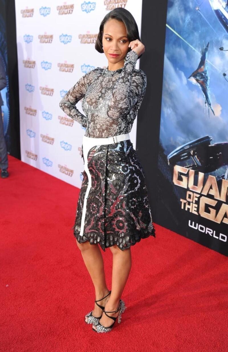 """Una fuente cercana a la actriz confirmó a la revista Us Weekly que la actriz de """"Avatar"""" espera a su primer hijo a lado de Marco Perego."""