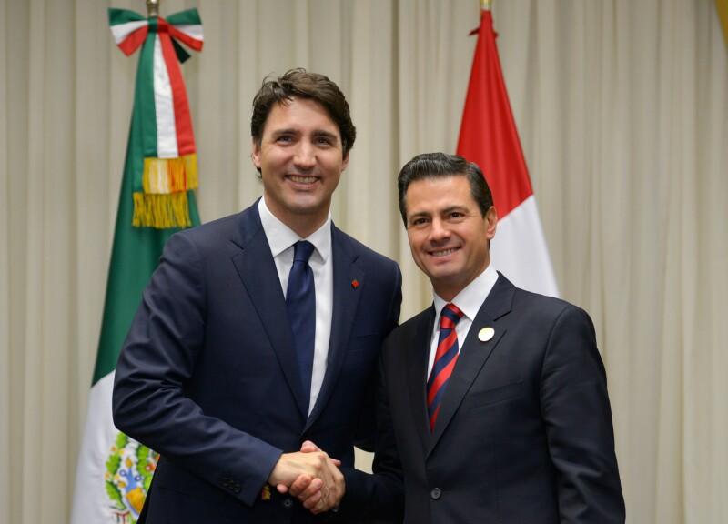 Trudeau y Peña Nieto en Lima
