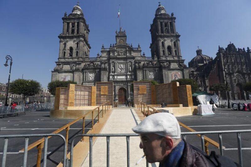 La Ciudad de México ya está más que preparada para la llegada del Papa Francisco.
