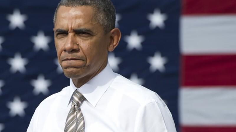obama antes de un discurso
