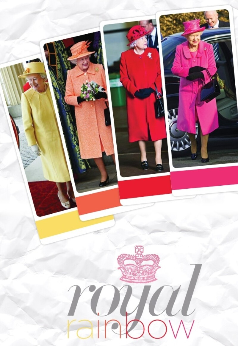 Una gran gama de colores tiene la Reina en su guardarropa.