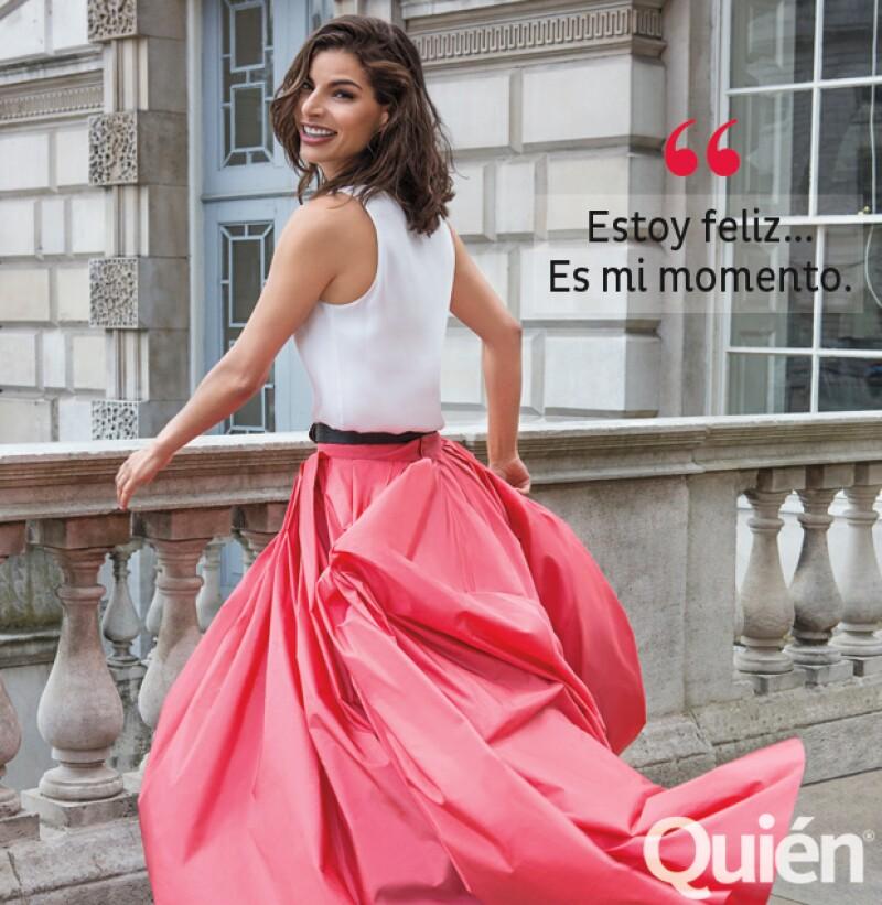 """En exclusiva, la ex modelo mexicana nos contó sobre su nuevo amor, tocó el tema de su relación pasada y confiesa que está en su """"mejor momento""""."""