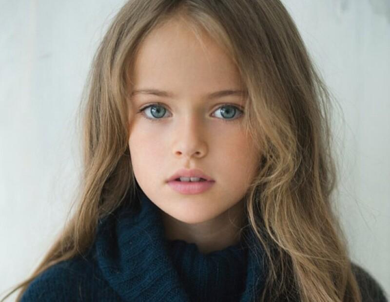 Conoce a Kristina, la top model más joven, que a sus nueve años de edad ya ha trabajado con importantes firmas como Roberto Cavalli y Dolce & Gabbana.