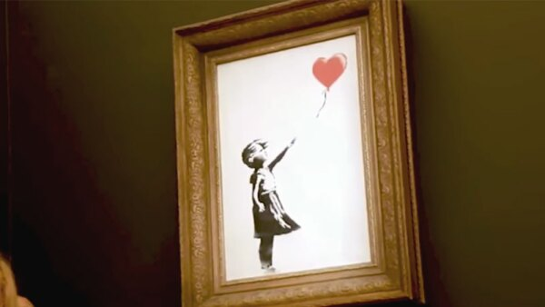 Girl with balloon, Bansky