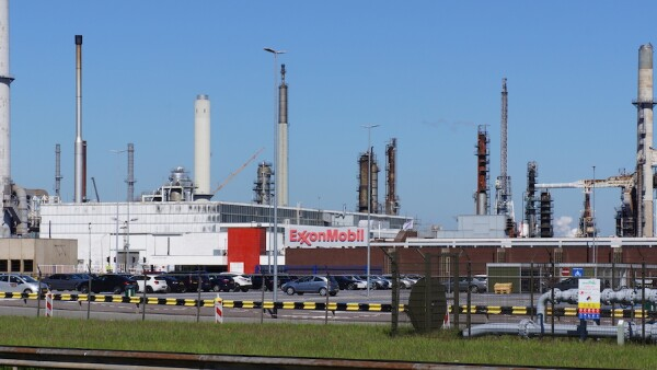 ExxonMobil industrial facility in Rotterdam, the Netherlands