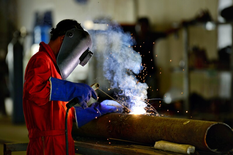 Welder engineer workshop