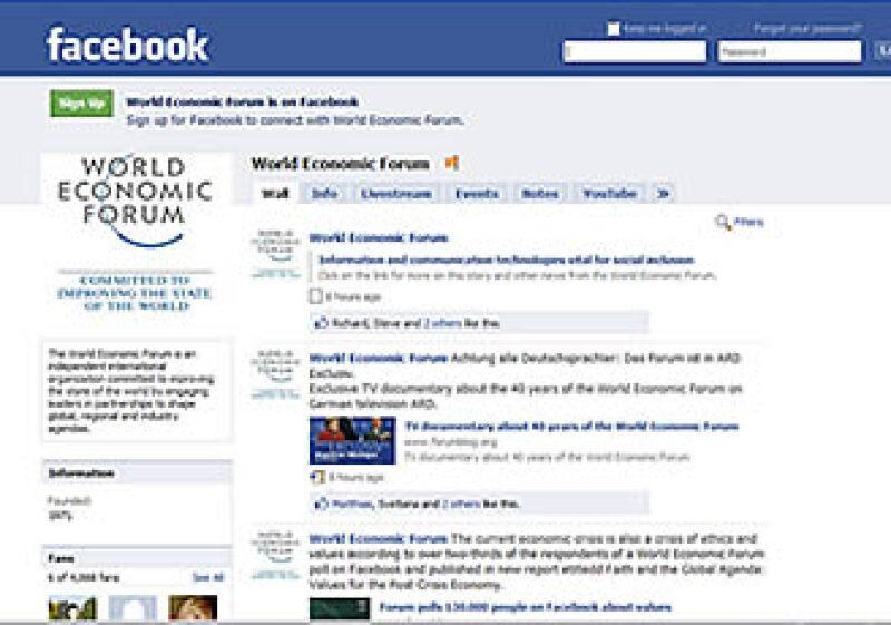 El WEF cuenta con más de 4,000 seguidores en su página de Facebook. (Foto: Cortesía)