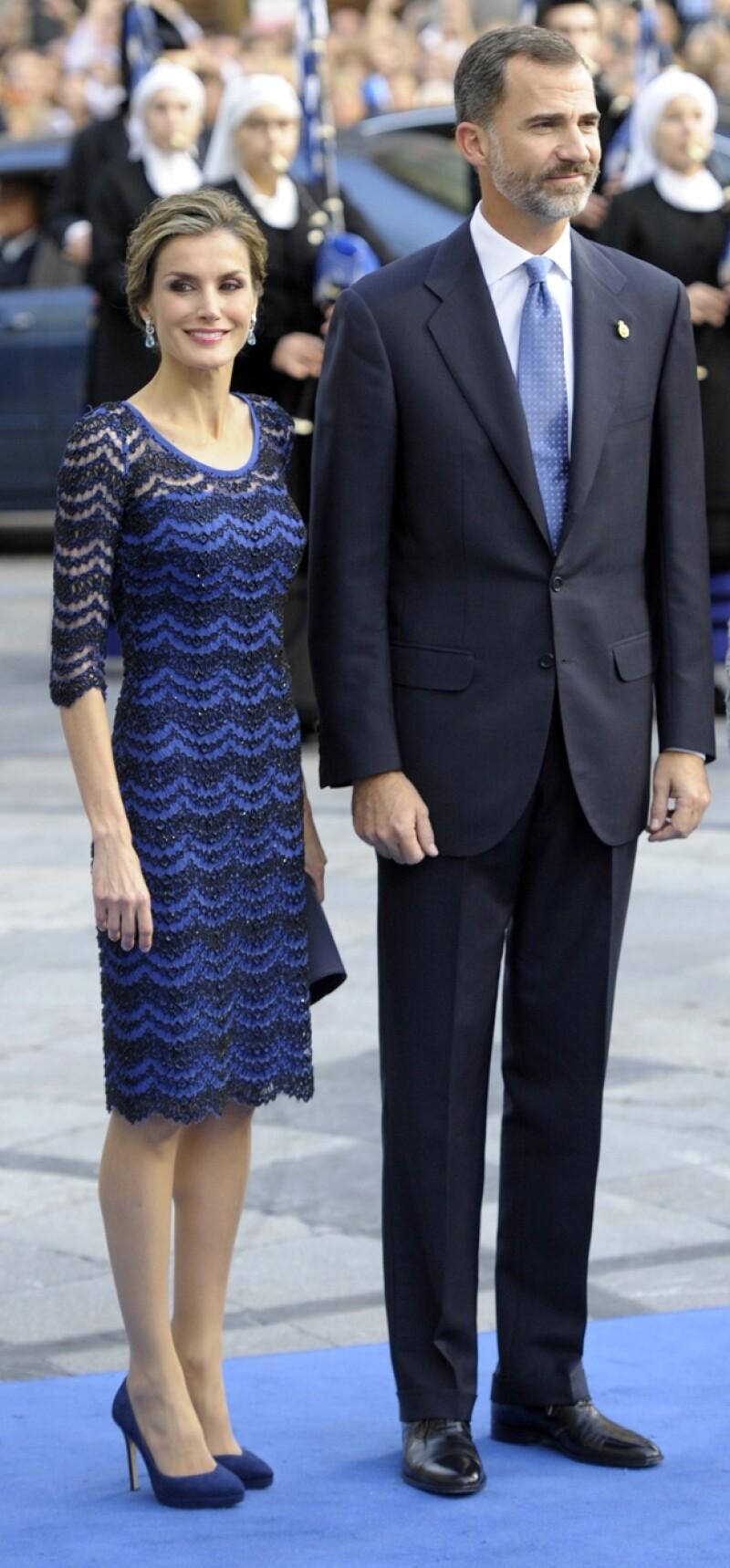 Una vez más la reina de España se vistió de Felipe Varela.
