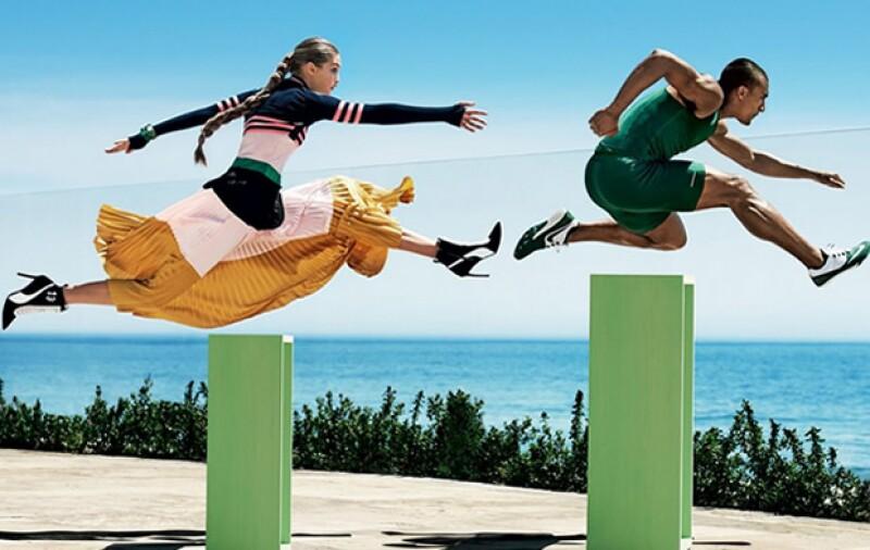 Como toda una atleta, Gigi entrenó mucho para estas fotos.