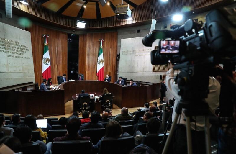 Sesión del Tribunal Electoral del Poder Judicial de la Federación