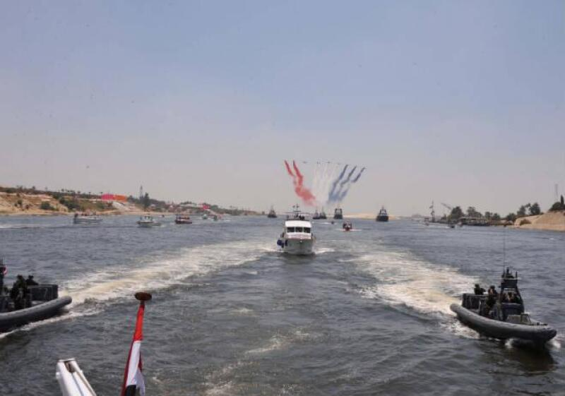 Nuevo canal de Suez en Egipto