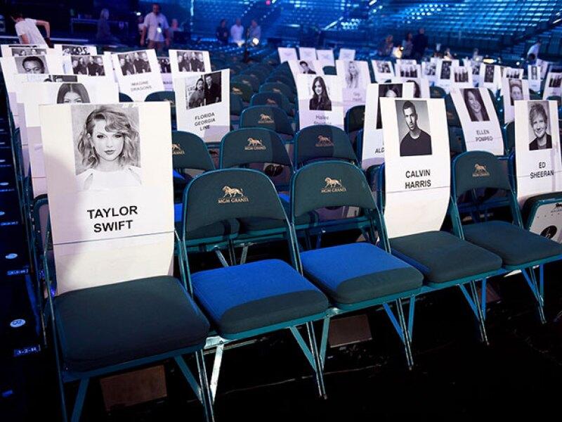 Así se ven los asientos para esta noche.