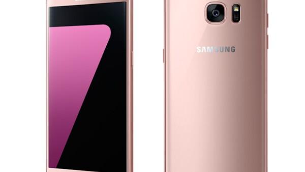 Samsung lanza en México el tan esperado Galaxy S7 y S7 edge en color oro rosa.