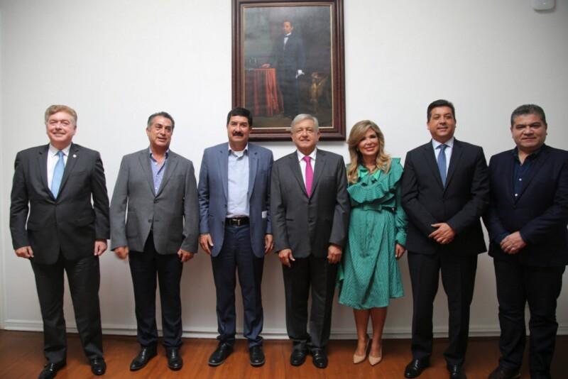 AMLO López Obrador frontera norte gobernadores