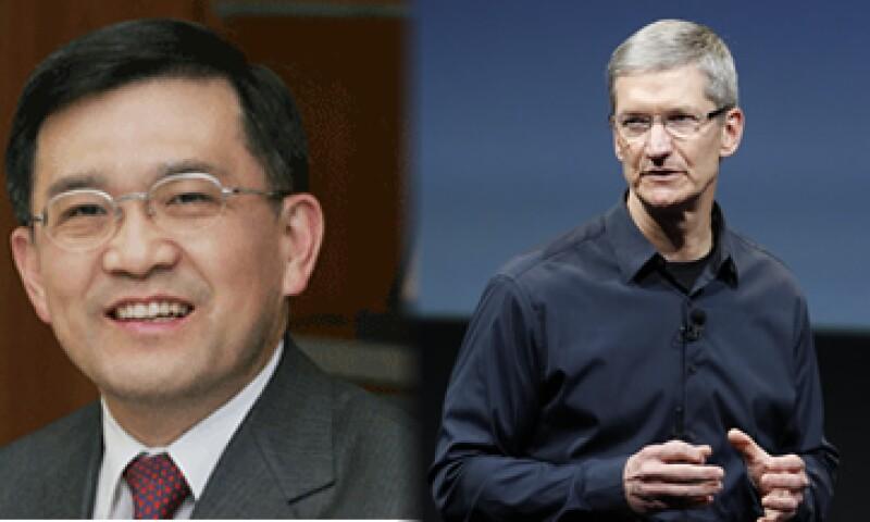 Oh-Hyun Kwon y Tim Cook, los CEO de Samsung y Apple respectivamente. (Foto: Especial)