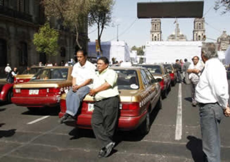 Las autoridades del DF llegaron a un acuerdo con los operadores de taxis este jueves por la tarde. (Foto: Notimex)