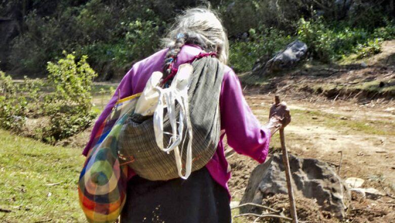 Los niños nahuas en Veracruz mostraron su entorno natural.