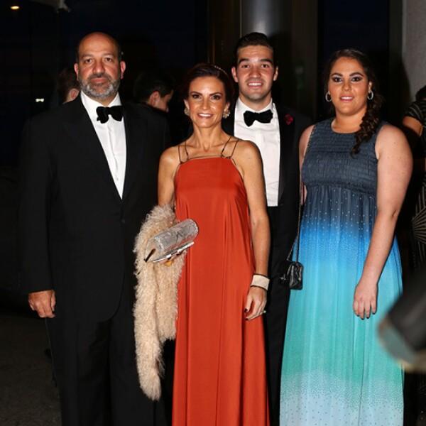 Patricio, María, Diego y Norma Isabel Slim