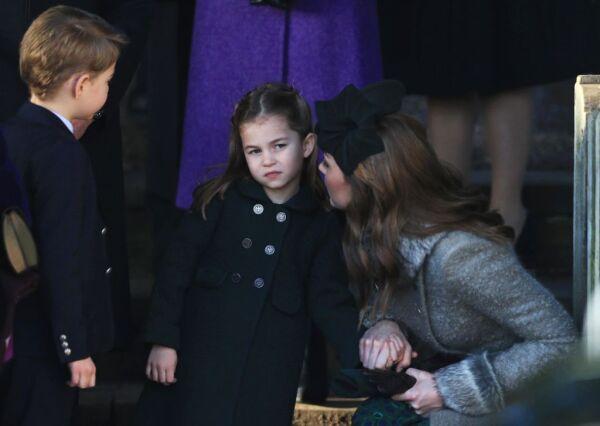 Príncipe George, princesa Charlotte y Kate Middleton