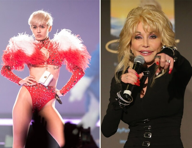 Miley estuvo rodeada desde pequeña con celebridades muy conocidas.