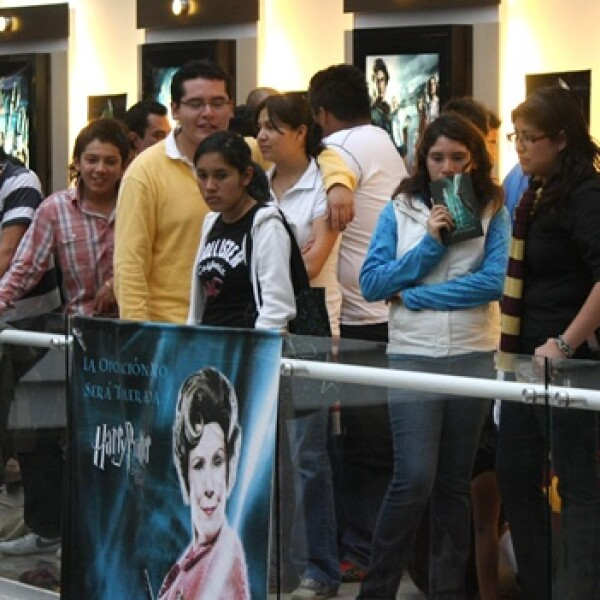 fila en el cine