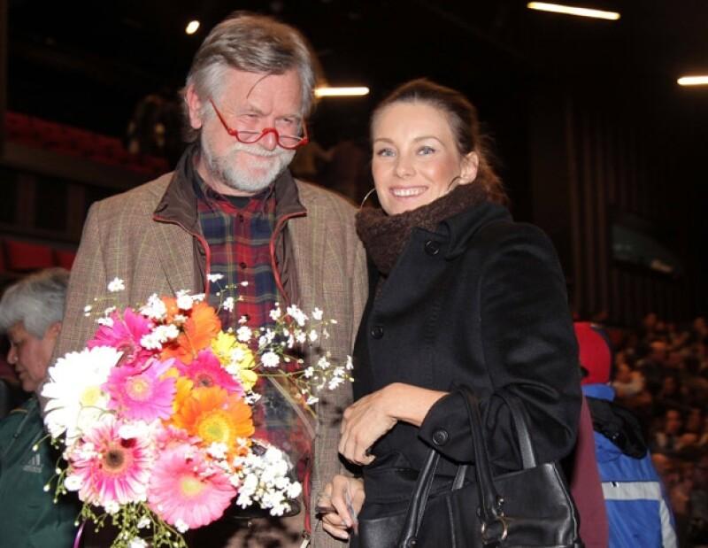 Dominika Paleta y su padre Zbigniew acompañaron a Ludwika en una noche muy especial.