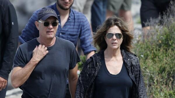 Tom Hanks y Rita Wilson .