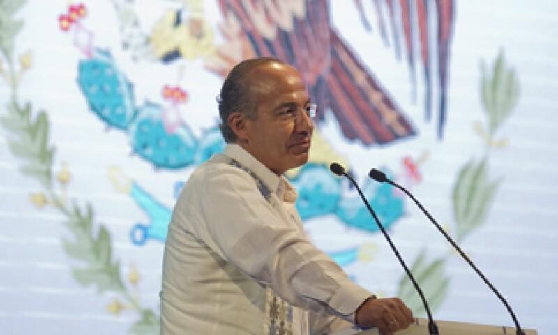 Calderón señaló que el camino del desarrollo no es la estatización ni la expropiación. (Foto: Notimex)
