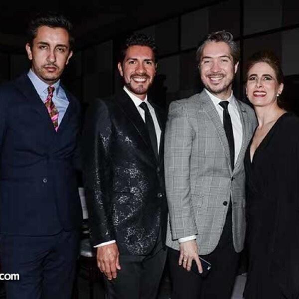 Guillermo Cano,Sergio Medina,Manuel Vera y Alicia López Ostolaza.