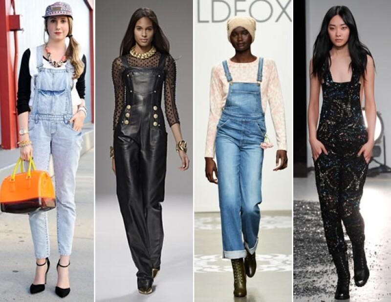 ¡Los overalls están de vuelta! La tendencia de los años 90 se apunta como ítem  durante la primavera y verano de 2014.