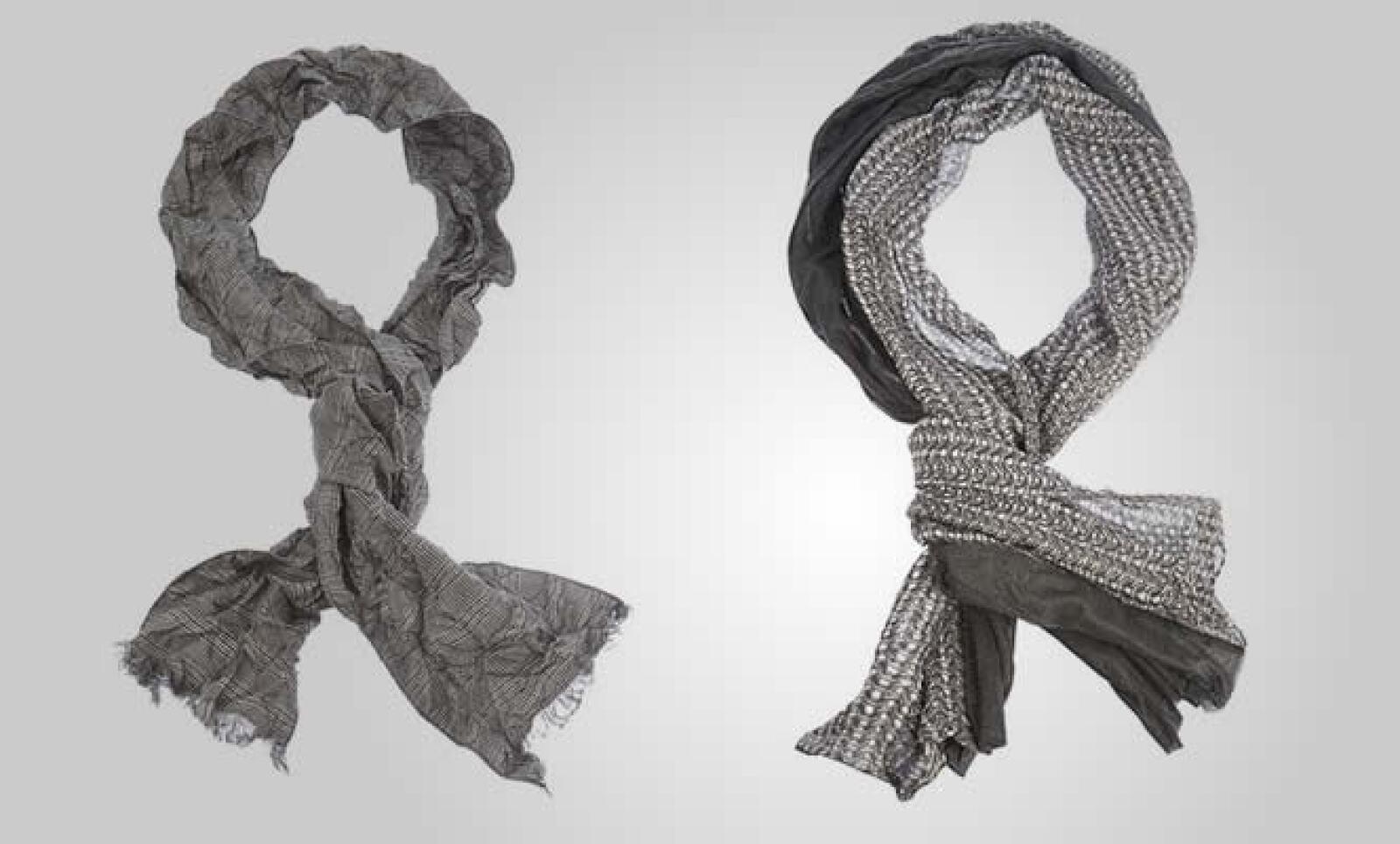 """""""Adoro los bufandas"""", dijo Giorgio Armani, al presentar esta colección, disponible ya en las boutiques de la firma en todo el país."""