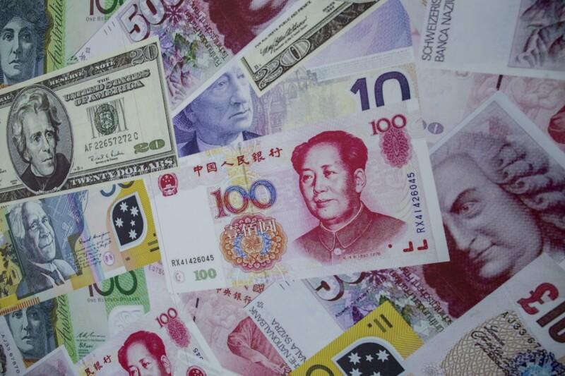 Reservas dólares euro yuan