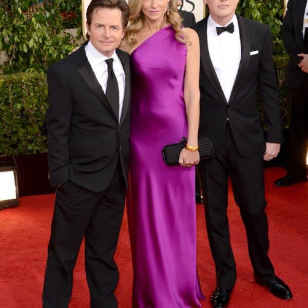 Michael J. Fox, Tracy Pollan, Sam Fox.