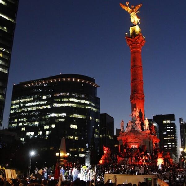 Ángel de la Independencia en la marcha #1DMx