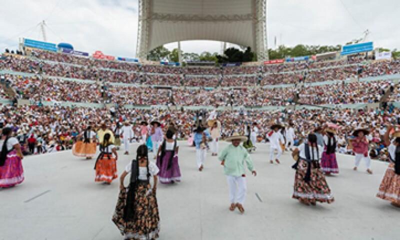 La Guelaguetza forma parte de las Fiestas del Lunes del Cerro. (Foto: Cortesía Gobierno de Oaxaca)