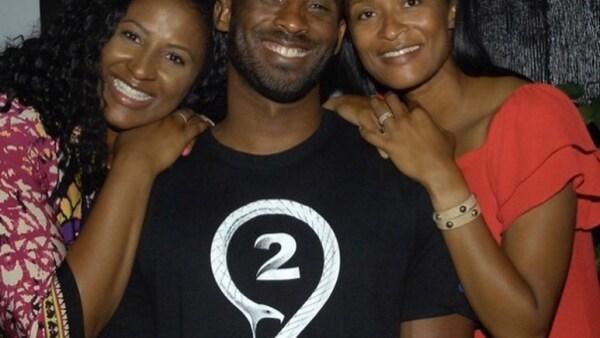 Kobe Bryant y sus hermanas