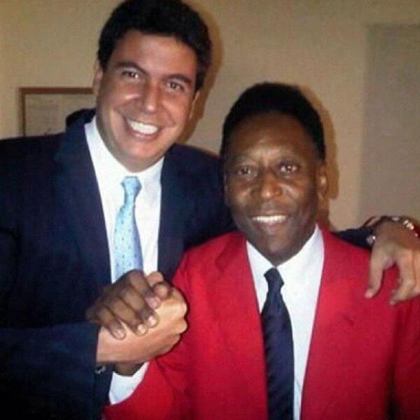 Con el futbolista Pelé.