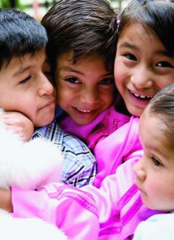 Los pequeños modelos son niños de la Casa Hogar Quinta Carmelita.