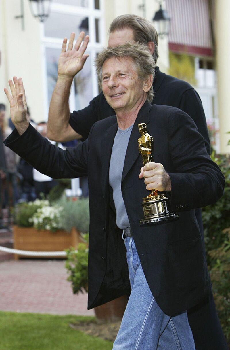 Roman Polanski and Harrison Ford