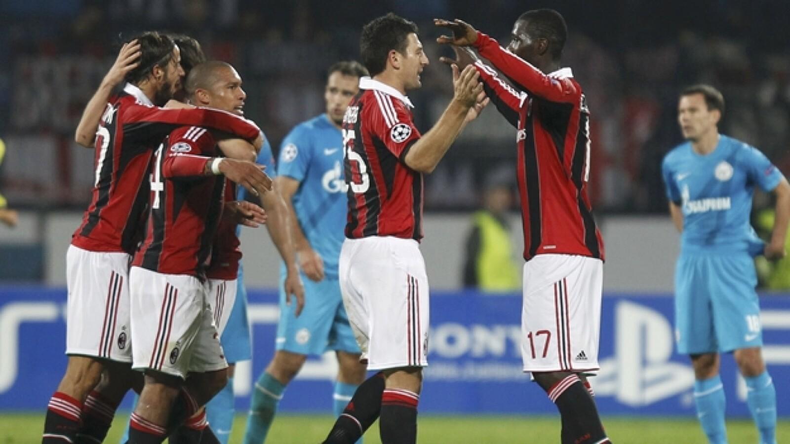 Milán vs Zenit