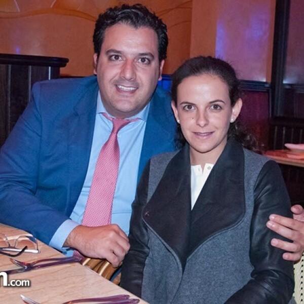 Carlos Santoveña y Andrea Lamuño