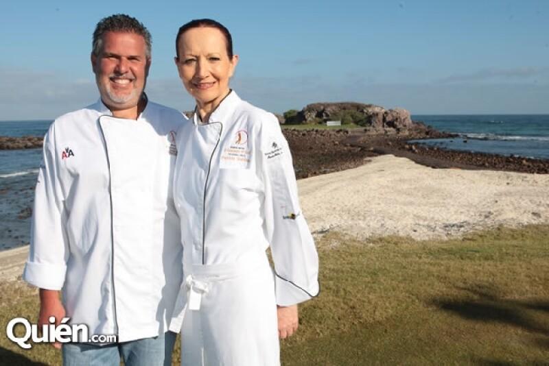 Los chefs Paty y Richard del restaurante Izote y Pámpano, respectivamente, engalanan el Punta Mita II Gourmet & Golf Classic 2012.
