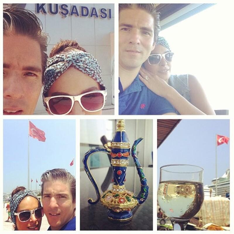 """Durante la semana, la conductora ha compartido con sus seguidores de Instagram fotos de lo que llamó su """"Luna de miel""""; ahora los enamorados disfrutan del mar."""