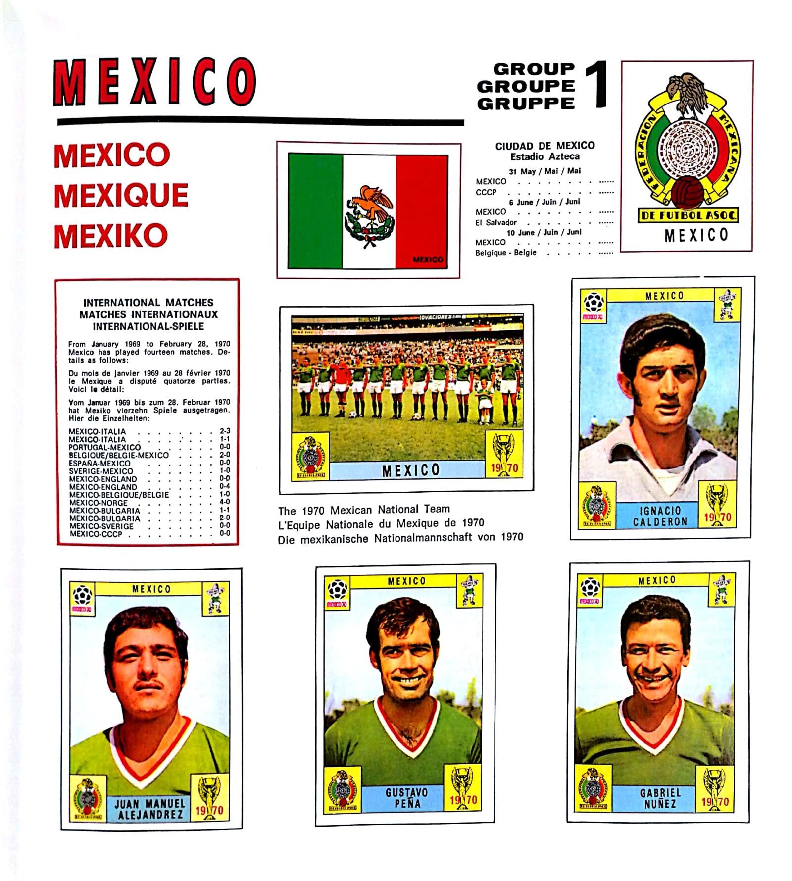 México 1970 álbum Mundial