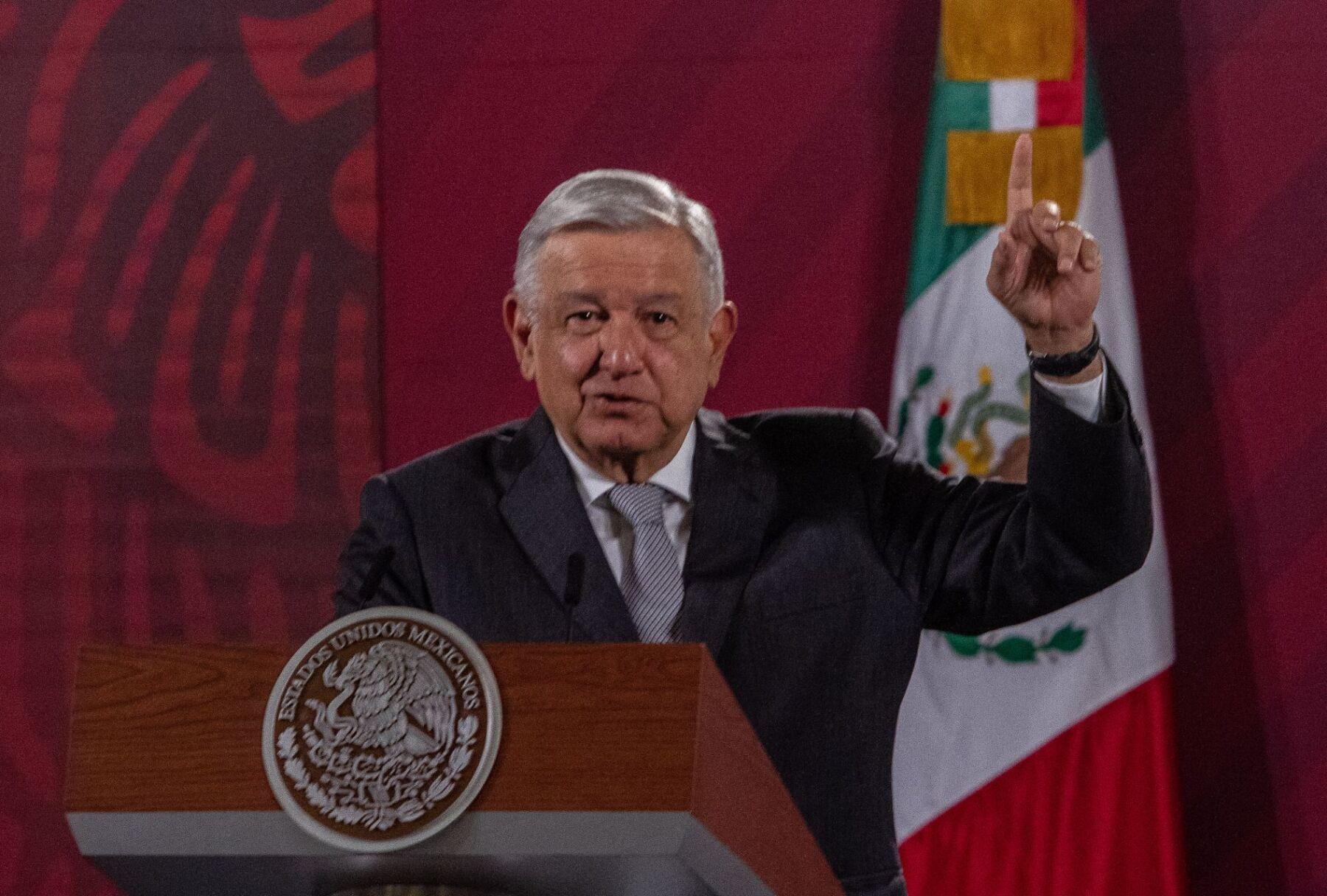 Andrés Manuel López Obrador, presidente de México, durante la conferencia matutina en Palacio Nacional